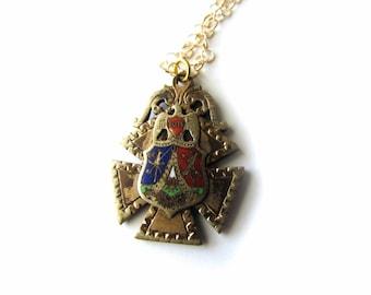 SALE-Antique Masonic Pendant / Totem of Eagle c.1880