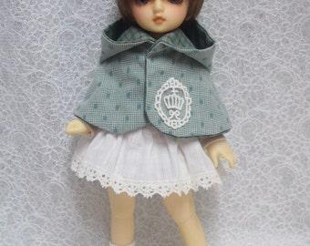 Sales Super Dollfie Yo SD Littlefee Green Cape One Piece Set
