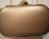 Gold Metallic Handbag / Clutch / Shoulder / Purse