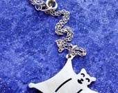 Flying Squirrel Charm Necklace Key Chain or Pendant