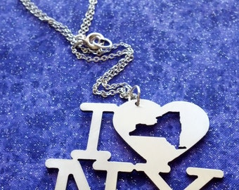 I Heart New York - Design 2 - Necklace Pendant or Keychain