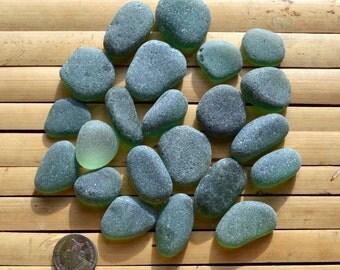 GREEN SEAHAM Sea Glass Shards - English Sea Glass - Jewelery Supplies (1481)