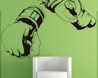 Vinyl Wall Decal Sticker MMA Hands 1481A