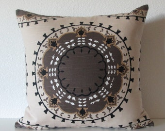 Dwell Studio Medallion Band Suzani Toffee decorative pillow cover