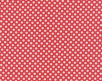 Daysail Buoys in Red Sequin Dots - Moda Fabrics