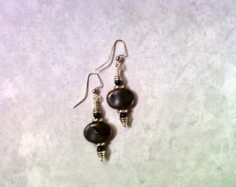 Black Raku Earrings (1913)
