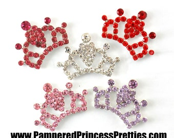 "Set of 4- Rhinestone Tiara Centers (26mm=Approx. 1"")- You Choose Colors"