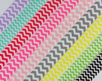 "5yds- 5/8"" FOE/Satin Elastic-You Choose Colors During Checkout, Chevron Single Color"