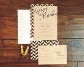 Chevron Wedding Invite Suite