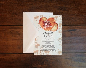 Love is Brewing Coffee Bridal Shower Invitation  - Set of 25