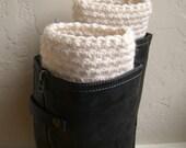 Cream boot cuffs - fashion boot cuffs - handmade warm boot toppers - cream legwarmers - crocheted boot cuffs