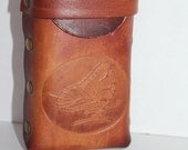 Leather Cigerette Holder with Butterfly Design