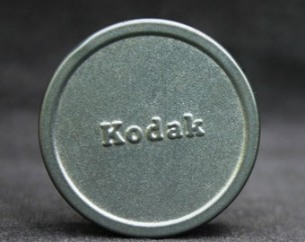 Vintage Kodak films round metal box.
