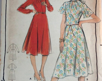 1970's ladies dress pattern Butterick 5416 size 10 bust 32 UNCUT