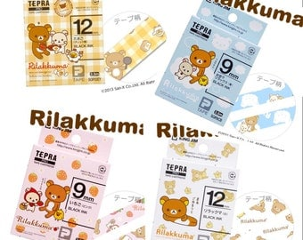 Tepra Rilakkuma tape/custom made Rilakkuma deco tape/Custom design label/Tepra tape/Tepra tape/Rilakkuma deco tape/customized deco tape