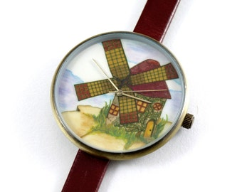 Limited Edition Art Watch - Windmill Art Watch