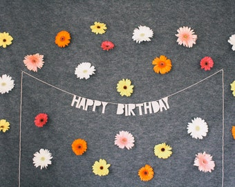 paper party banner, HAPPY BIRTHDAY - handmade, wall decor, wall hanging, birthday banner, birthday party decor, birthday party, party banner