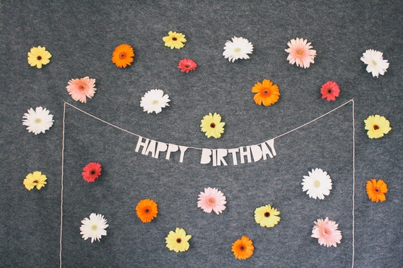 Paper Party Banner HAPPY BIRTHDAY Handmade Wall Decor
