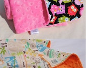 Minky Baby Blanket, Design Your Own, Baby Girl or Baby Boy Blanket