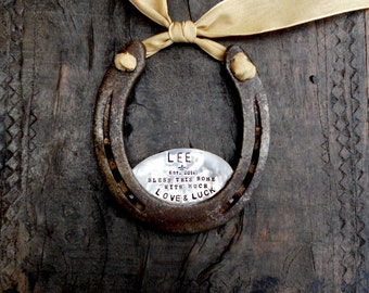 The Fleur De Lis Love & Luck Horseshoe™ CUSTOM Personalized Equestrian Decor for Your Home.  As Seen in Southern Weddings Magazine. Welcome