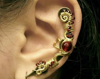 Philosopher's Stone Ear Cuff