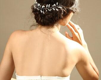 Bridal Rhinestones hair vine, Wedding hair accessories, sparkle Crystal hair vine,  Bridal Hair Piece, Hair Vine Tiaras