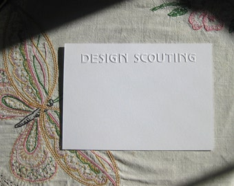 Custom Personalized or Business Embossed Stationery