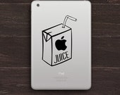 Apple Juice Box Vinyl iPad Decal BAS-0106