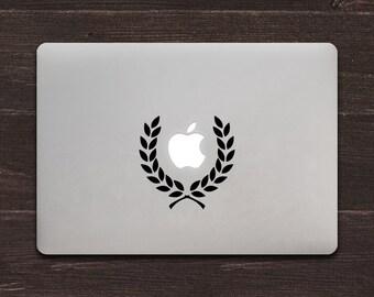 Laurel Wreath Vinyl MacBook Decal BAS-0153