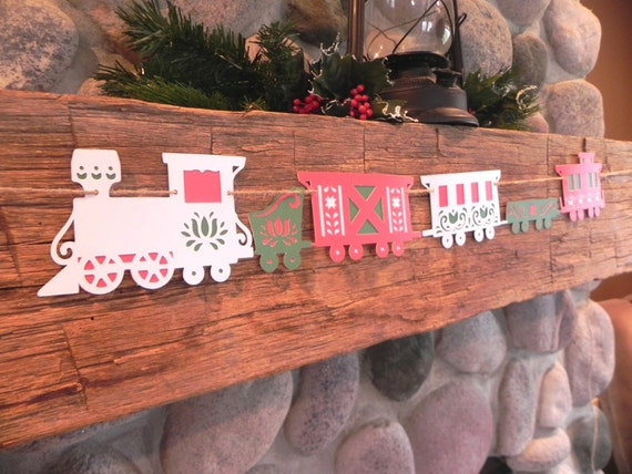 The Christmas Train- A Decorative Banner for the Holiday Home