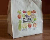 Dirty Dozen List Canvas Grocery Tote Bag