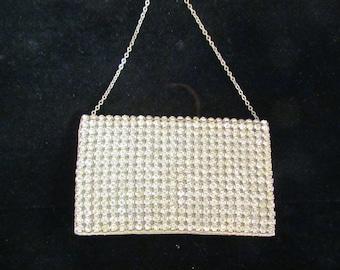 Rhinestone Purse Hollywood Regency 1930s Ladies Wallet Clutch Purse Coin Purse Prong Set Rhinestone Purse Bling Bag