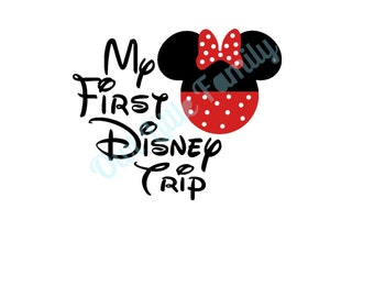 My First Disney Trip Minnie Iron On Vinyl Decal