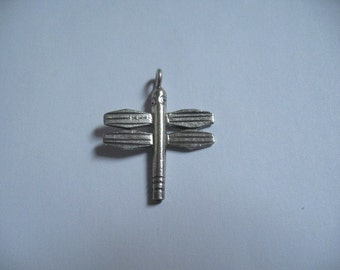 Dragonfly Pendant Hill Tribe Silver Charm