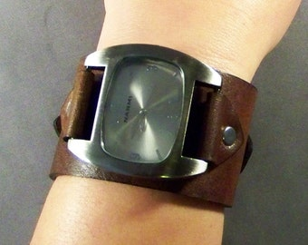 Leather Gift For Him-Leather Gift For Men-Gift For Women-Leather Watch Band-Wedding Gift-Husband Gift-Anniversary Gift-Birthday Gift