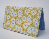 Checkbook Cover, Daisies, Spring, Checkbook Holder, Money, Gift For Her, Accessories