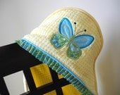 butterfly hooded towel many colors available baby girl shower gift birthday gift