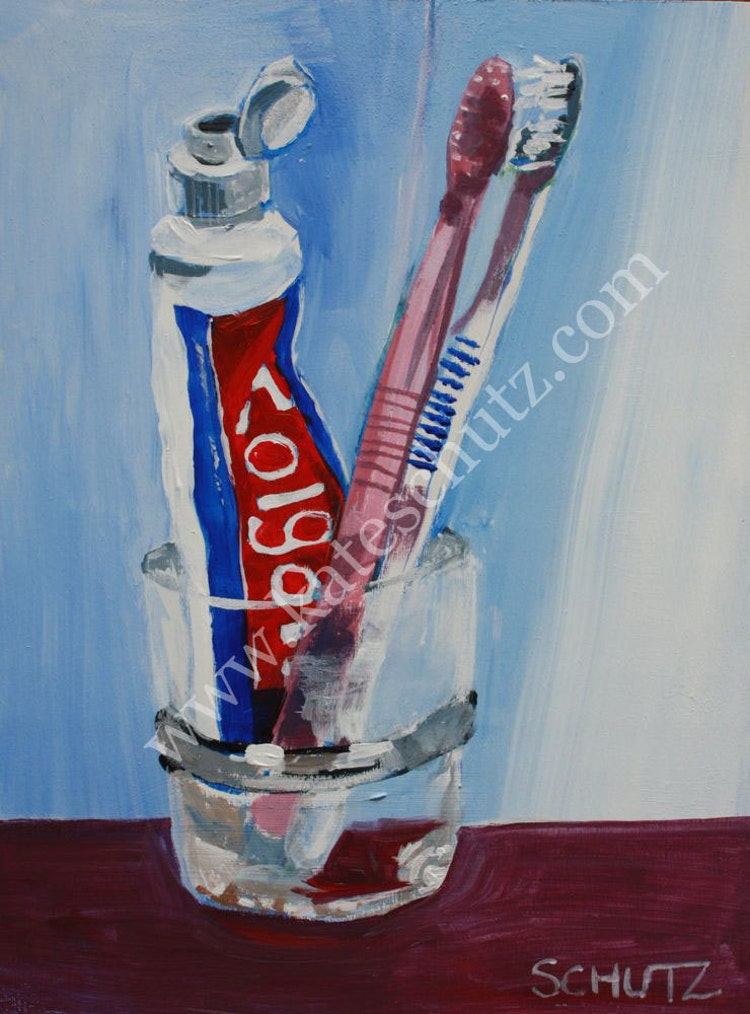 Still life painting toothpaste and by theeverydayatelier on etsy - Painting tool avis ...