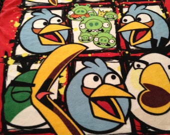 Angry Birds Fleece Hand-tied Blanket