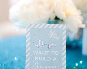 Frozen Snowman Sign- Printable, Instant Download
