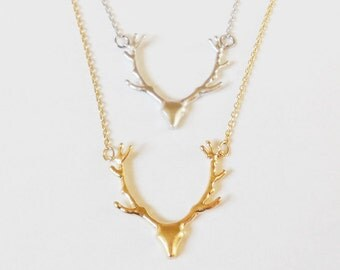Antler Necklace Deer Antler Jewelry Reindeer Deer Antler Jewelry Country Wedding Gift Country girl