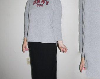 90s DKNY heather grey sweater size M