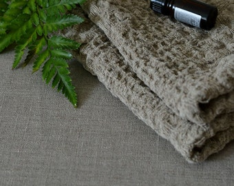 2 Organic Linen Towels Wafer Towels Natural Rustic Linen Towels Massage Undyed Towels Pre Washed Hand Towels Eco Face Towels