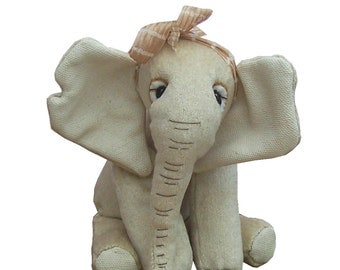 Elephant soft toy sewing pattern