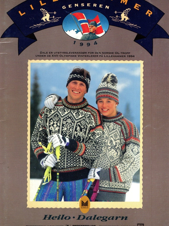 Dale Of Norway Knitting Pattern Books : DALE OF NORWAY Dalegarn Lillehammer 1994 Knitting Book