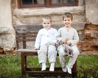 Boy linen trousers - Toddler linen pants - Ring bearer outfit - Boys linen pants - Boy linen outfits - Baby boy pants - Beach wedding pants