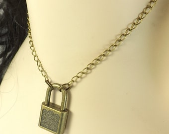Submissive Necklace Padlock Necklace slave day collar