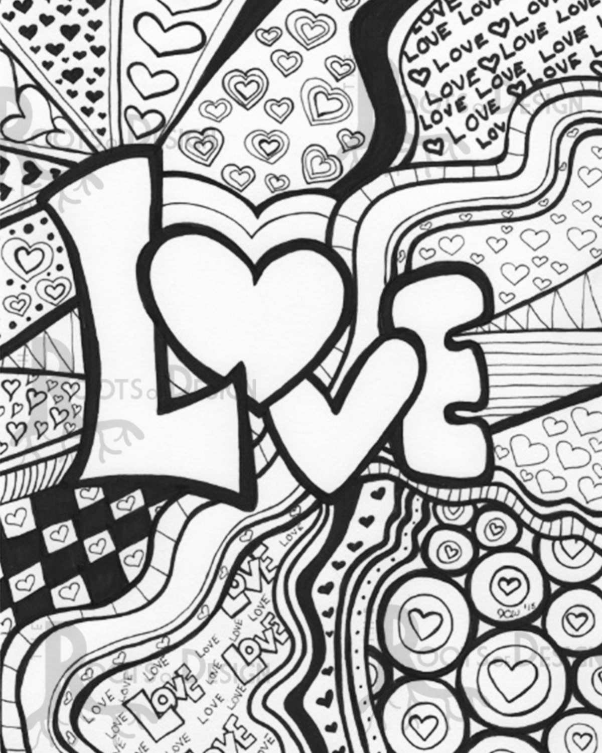 Love Word Coloring Pages