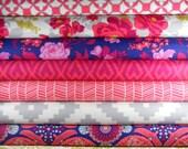 Half Yard Bundle - FLORA - Poppy Palette - Joel Dewberry for Free Spirit Fabric - 12 pieces