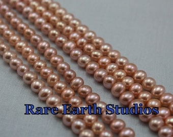 "Natural Fresh Water Pearls 5-6mm+/- 8""str 60215079"